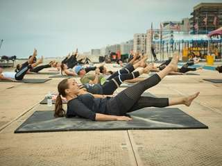 Fitness classes on the beach are part of