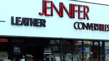 Jennifer Convertibles store in Farmingdale. Jennifer and its