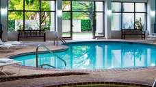 Pool inside Radisson Hotel in Hauppauge great for