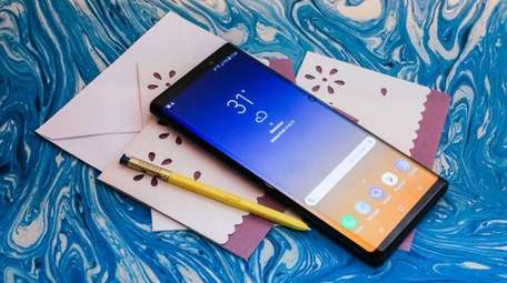 The Samsung Galaxy Note 9, with built-in storage