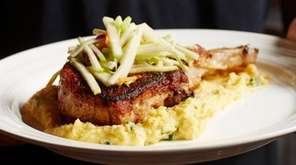 The Cajun-seasoned pan-seared pork chop at The Crispy