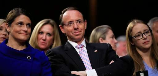 Deputy Attorney General Rod Rosenstein during Senate Judiciary