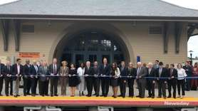 LIRR officials and elected leaders gathered Friday to