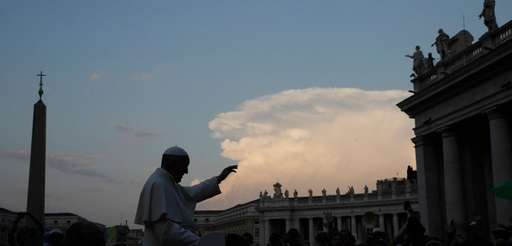 Pope Francis greets the crowds in St. Peter's