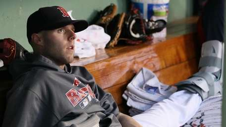 Dustin Pedroia of the Red Sox tied for