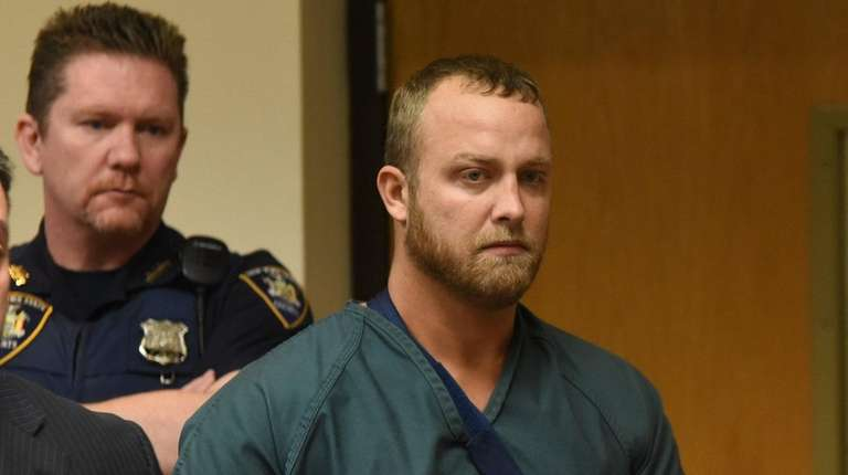 Michael Shear of Holtsville at his arraignment at