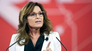 Former Alaska Gov. Sarah Palin speaks during a