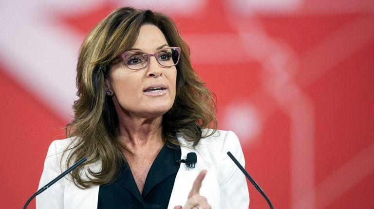 Former Alaska Gov. Sarah Palin speaks during a