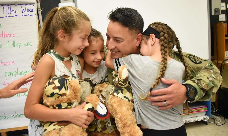 Army National Guard Captain Anthony Telesca, back home