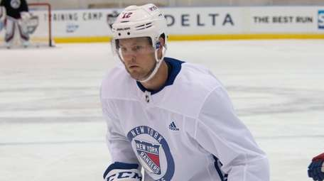 Kevin Shattenkirk at the Rangers first practice at