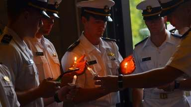 The U.S. Merchant Marine Academy marked its 75th
