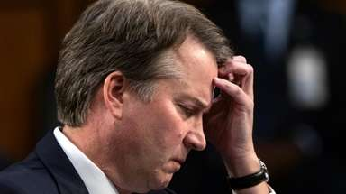 Supreme Court nominee Brett Kavanaugh waits to testify