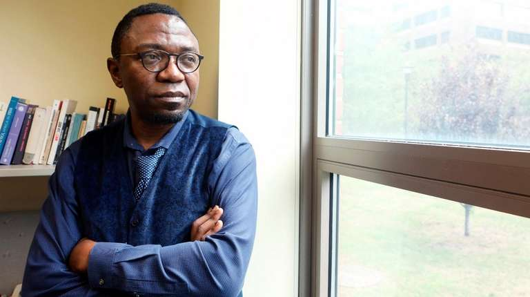 Patrice Nganang, a professor at Stony Brook University,