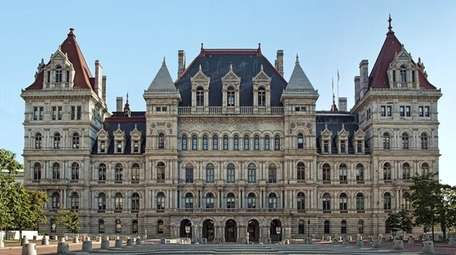 View of the New York State Capitol from