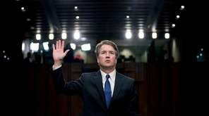 Supreme Court nominee Brett Kavanaugh is sworn in