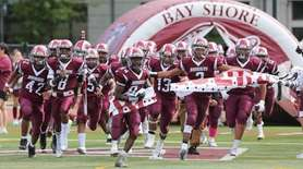 Bay Shore takes the field for their Homecoming