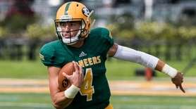 LIU Post quarterback Chris Laviano during the Bentley