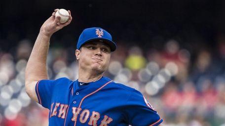 Corey Oswalt #55 of the New York Mets