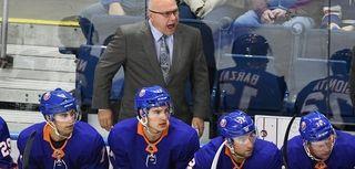 New York Islanders head coach Barry Trotz calls