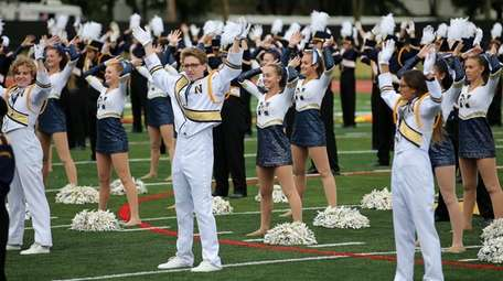 The Northport Band performs at halftime of the