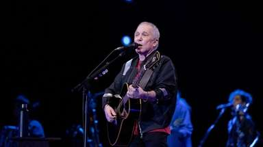 Paul Simon performs during his final show as