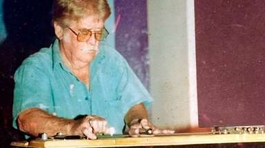 An undated photo of steel guitarist Felton Pruett