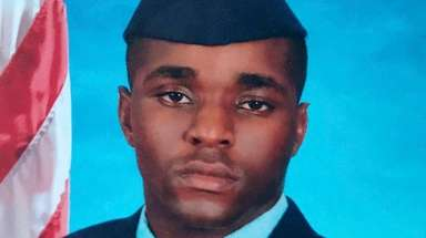 New York Air National Guardsman Dashan Briggs, of