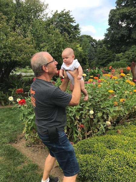 grandpa glenn koebel loving his day with granddaughter