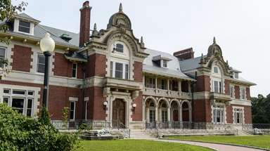 The Vanderbilt mansion sits on the former Dowling