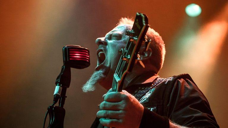 Lead singer-bassist Bob Von Hammer plays Metallica frontman
