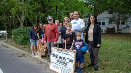 Smithtown residents who live near a proposed Dunkin'