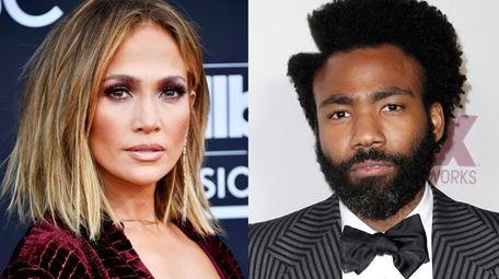 Jennifer Lopez and Donald Glover aka Childish
