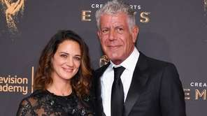Asia Argento and Anthony Bourdain attend the 2017
