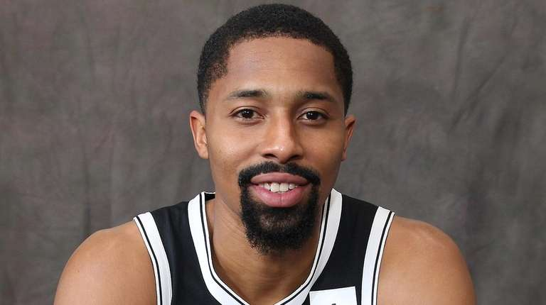 Nets' Spencer Dinwiddie at media day at HSS