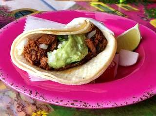 Tacos al pastor are among the Mexican dishes