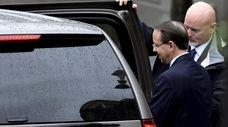 Deputy U.S. Attorney General Rod Rosenstein leaves the