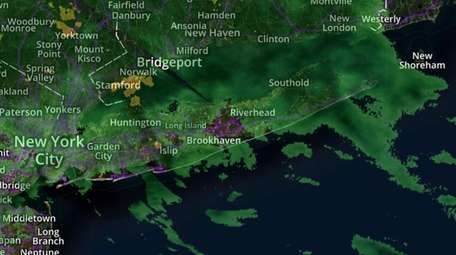 Moderate to heavy rain is expected Tuesday on
