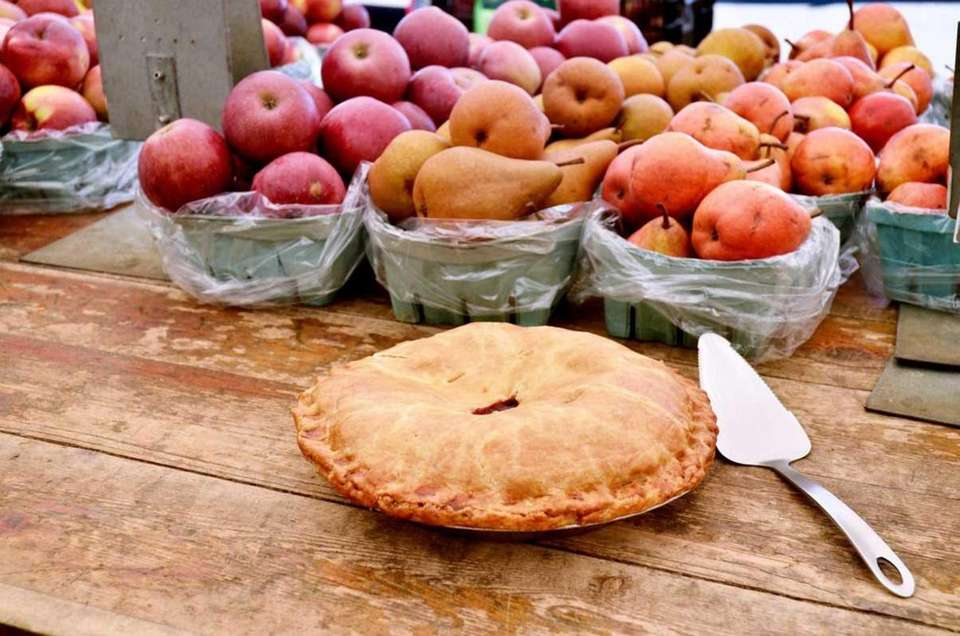 North Fork fresh fruit pies are baked the
