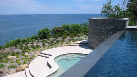 The bottom tier of the infinity pool at