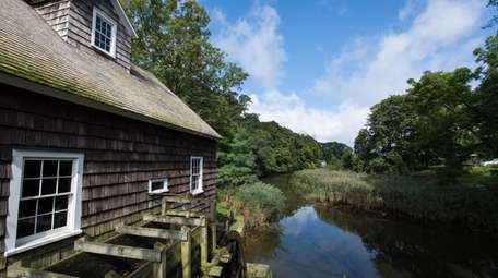 The Stony Brook Grist Mill and pond on