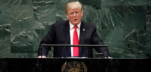 President Donald Trump addresses the 73rd session of