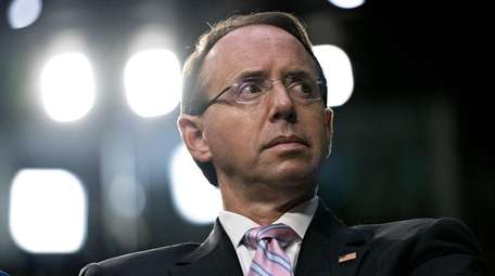 Rod Rosenstein, deputy attorney general, attends a confirmation