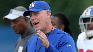 Giants coach Pat Shurmur during training camp on