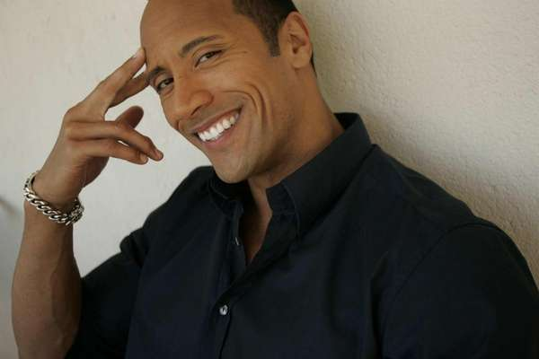 "Portrait of Dwayne ""the Rock"" Johnson taken at"