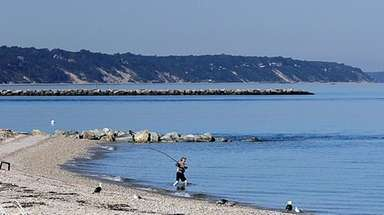 Long Island Sound at Wading River Beach on