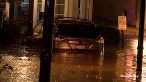 Torrential rainstormscaused problems in Port Jefferson Tuesday night,