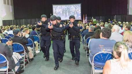 Members of the NCPD Special Operations Unit display