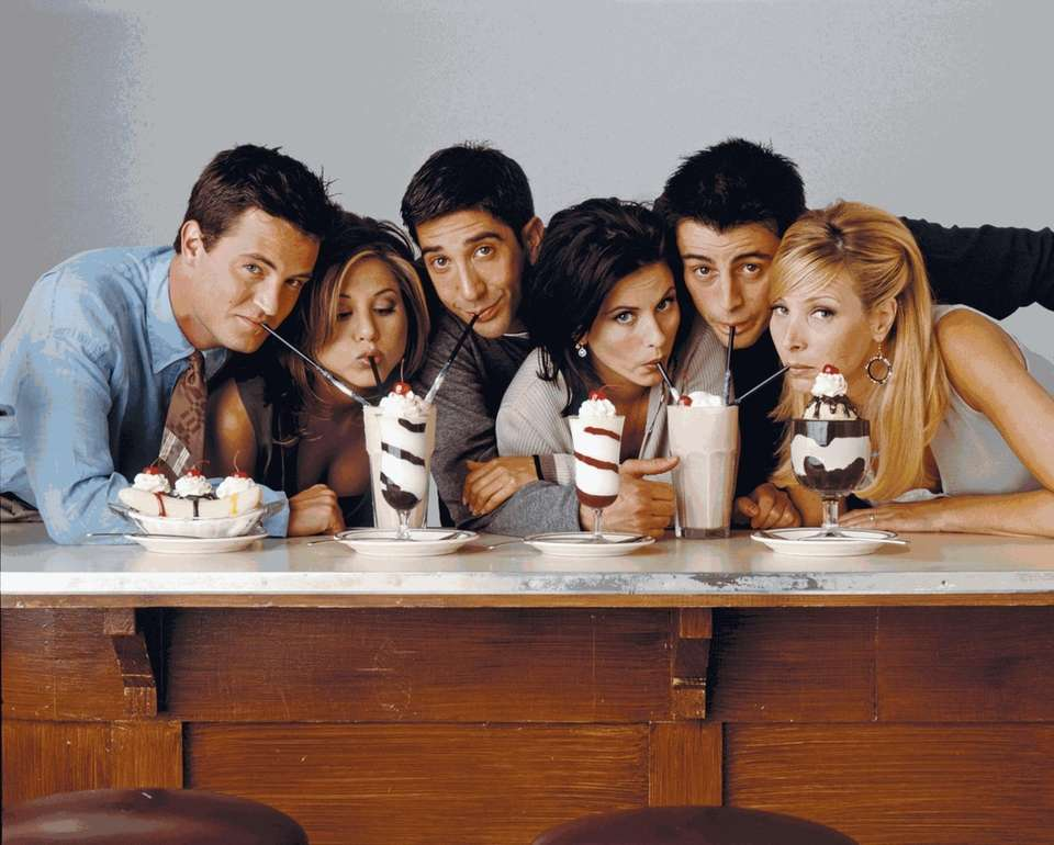 """The gang on """"Friends"""" are, from left,"""