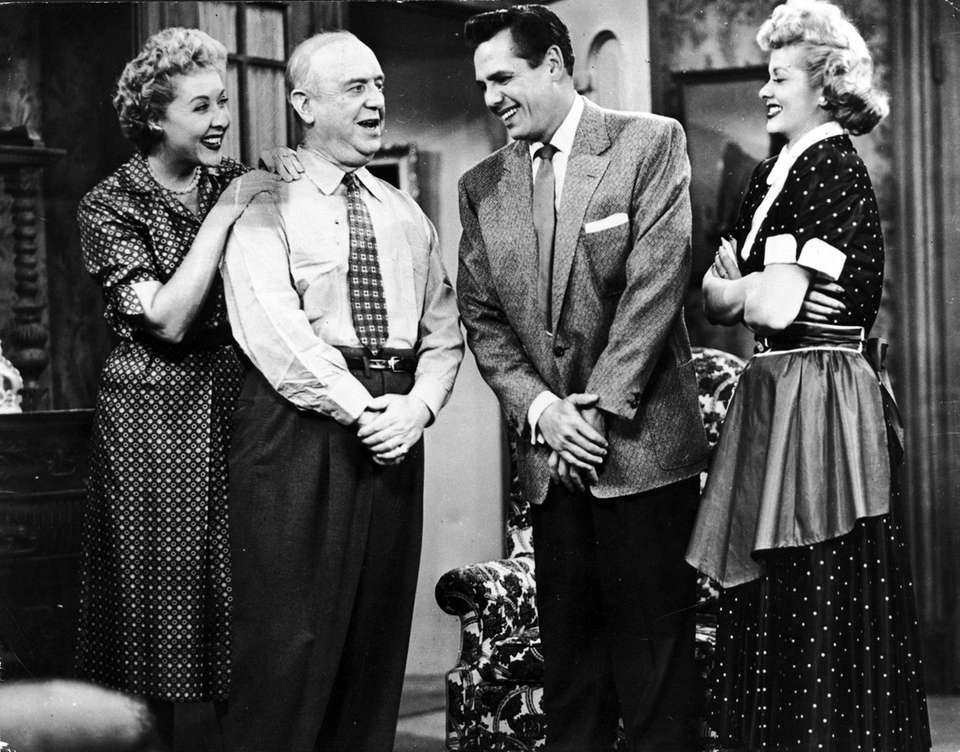 """The cast of """"I Love Lucy,"""" about 1955,"""