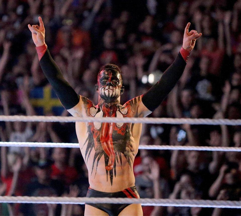 Finn Balor wins against Bray Wyatt during WWE